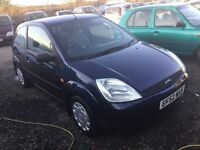 2003 Ford Fiesta 3 dr hatchback in navy blue lovely driver 1 yrs mot grey cloth interior any trial