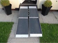 Folding disability ramps