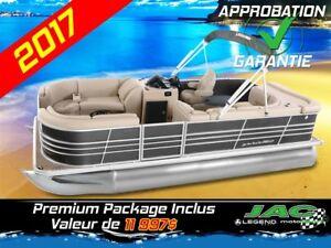 2017 Legend Boats Ponton Bayshore Cruise Mercury 25 EL Bateau pê