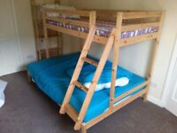 West Kilbride, bunk bed - bottom double with single top.