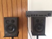 DYNAUDIO BM5 PASSIVE STUDIO MONITORS/SPEAKERS + NAD 3020A AMP + STANDS