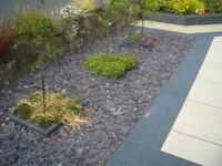 40 mm plum slate garden and driveway chips/ stones/ gravel