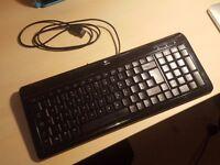 Logitech Ultra-Flat Keyboard Y-BP62a Black