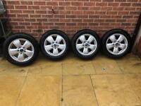 BMW Mini Heli alloys wheels and new tyres 15 inch F55 F56 F57