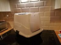 Used Cat Litter Box with scoop
