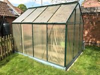 Greenhouse for sale - Gardman 8ft x 6ft - Sound frame, needs new panels