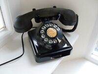 Vintage Art Deco Style Black Bakelite Telephone