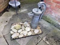 Garden Water Fountain Ornament and Stones