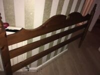 Kingsize pine Bedframe. Free local delivery.