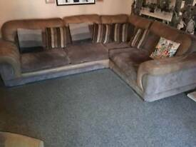 corner sofa and large chair and footstool