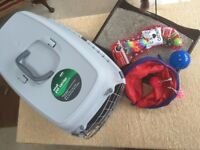 Cat Accessories Bundle - NEW Small Pet Carrier, Scratch Toy, Cat Tunnel Plus other small Toys.