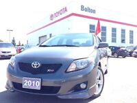 2010 Toyota Corolla XRS 2.4L 4CYL AUTO 1 OWNER LOCAL VEHICLE, FR