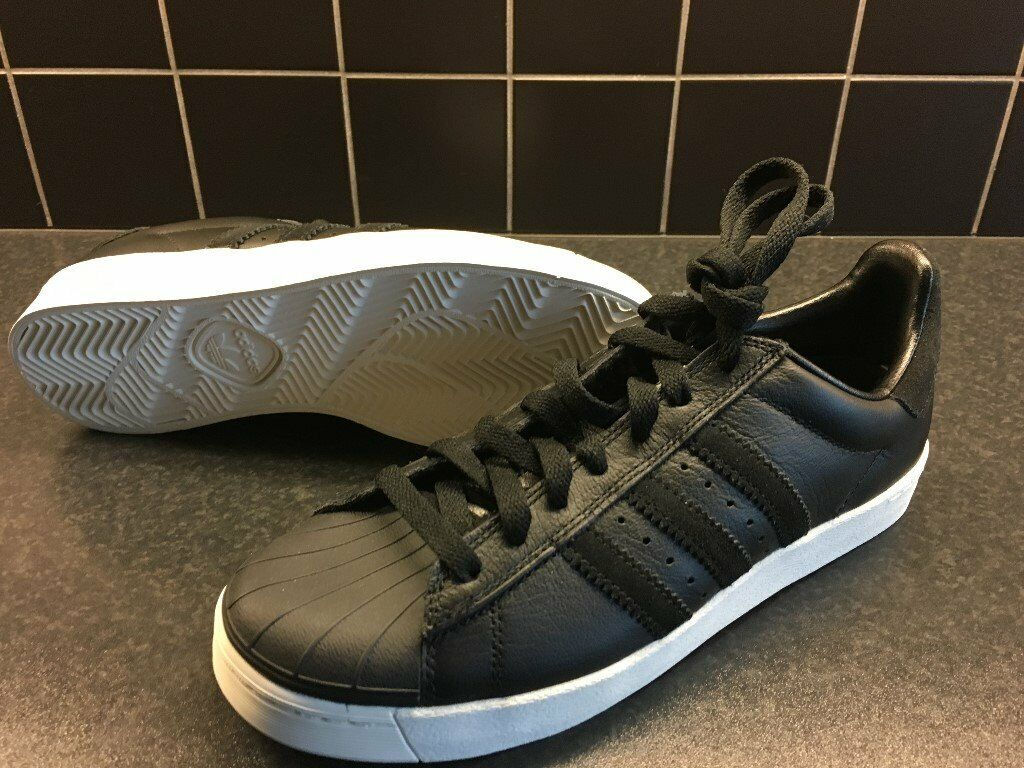 c7c7af717c37 Adidas Superstar VULC ADV Black White. Brand New with Tags. Size UK6.