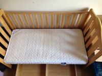 Bed-cot with a storage, stillage-changer, mattress, mat. Almost brand-new, Hight quality