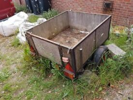 Iron Framed Box Trailor - Spares or Repair - Price Reduced