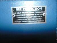 TANN DOCUMENT SAFE - SAFE AND VAULT FIREPROOF 1 HOUR REFURBISHED