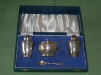 Boxed Silver Condiment Set