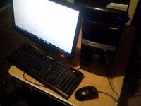 fast intelcore i3 desktop p.c set,up