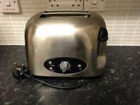Silver Bellini 2 Slice Toaster