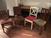 Assortment of second hand dining chairs and tables available