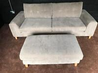 Sofology Demure 4 seater sofa /1x Snuggler Chair / 2x Foot stools