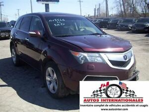 2011 Acura MDX TECH SH AWD 4X4 V6 3.7L 7 PASSAGERS MAG SROOF CAM
