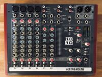 Allen & Heath Zed 10 Mixer with USB, excellent condition, home studio use only