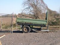 3 WAY TIPPER TIPPING TRAILER FOR TRACTOR NOT FOR CAR