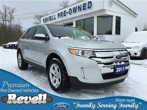 2011 Ford Edge SEL AWD...1-owner trade, Moonroof, Leather, Nav,