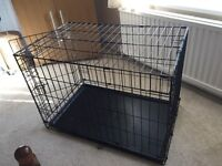 Black dog crate/cage small