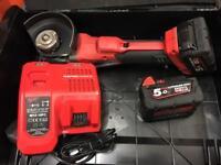 Milwaukee m18 cag115xpd Milwaukee fuel brushless grinder 5.0ah