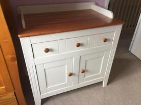 Beautiful Wooden Baby Changer With Storage