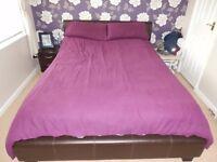 plum king size bedding set