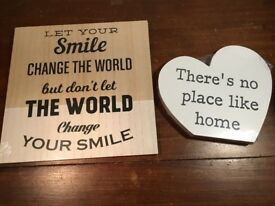 Said with Sentiment 2 Real Wood Frames - Home Gifts ( (New)