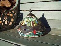 TIFFANY style DRAGONFLY stained glass lamp shade