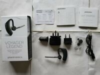 Plantronics Voyager Legend Bluetooth Headset Black In Box with Charger & Cable