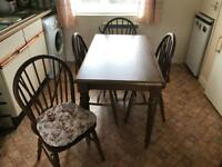 Dining room table and 4 chairs. Immaculate condition