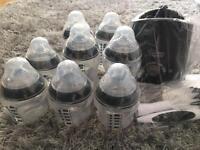 Tommee tippee bottles, bottle warmer and bottle brush