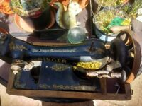 Beautiful old singer sewing machines hand operated