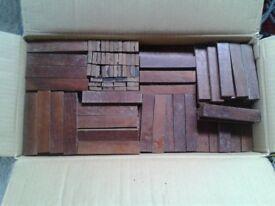 Hardwood parquet flooring blocks