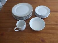 Dinner set, plate, bowls and mugs