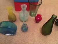 Selection of coloured glass