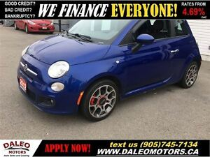2012 Fiat 500 Sport 74 KM LEATHER SUNROOF