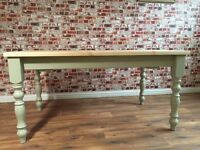 Scrub Top Painted Farmhouse Pine Dining Table / Extending Table - in Huge Range of Adaptable Sizes