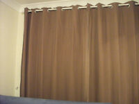 Brown Suede Curtains/Lined from Dunelm