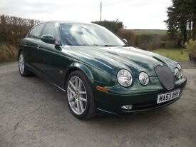 "Jaguar s type sport 6 speed auto with sat nav, low miles,12months mot, 19"" alloys"