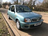 Nissan Micra 1.0 Very Low Mileage Only 2 Pre/Owners New MOT 13 Service Stamps