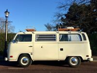1977 VW TYPE 2 WESTFALIA CAMPERVAN 2.0L AIRCOOLED FUEL INJECTION CALI IMPORT ON UK PLATES BARGAIN.