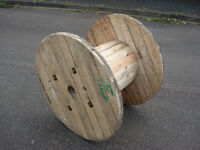 Chunky Wooden Reclaimed Cable Reel/Drum,Table, 90 cm x 66 cm Upcycled/Craft project.