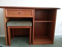 GPlan desk/dressing table/console table with stool